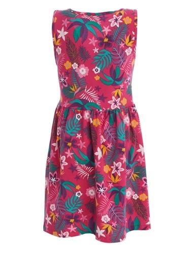 DeFacto Kız Çocuk Çiçek Desenli Kolsuz Elbise Mor